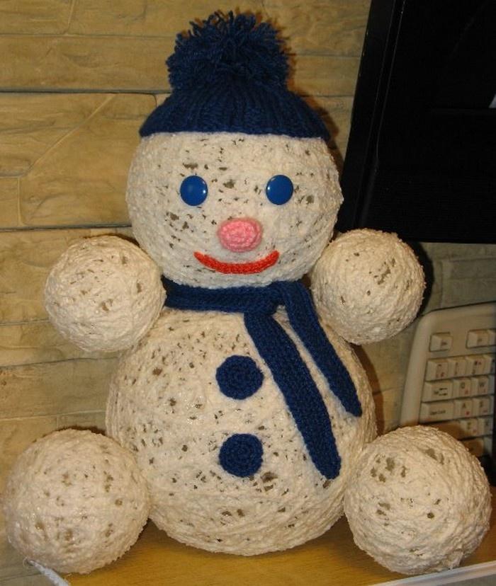 Как сделать поделку своими руками снеговика