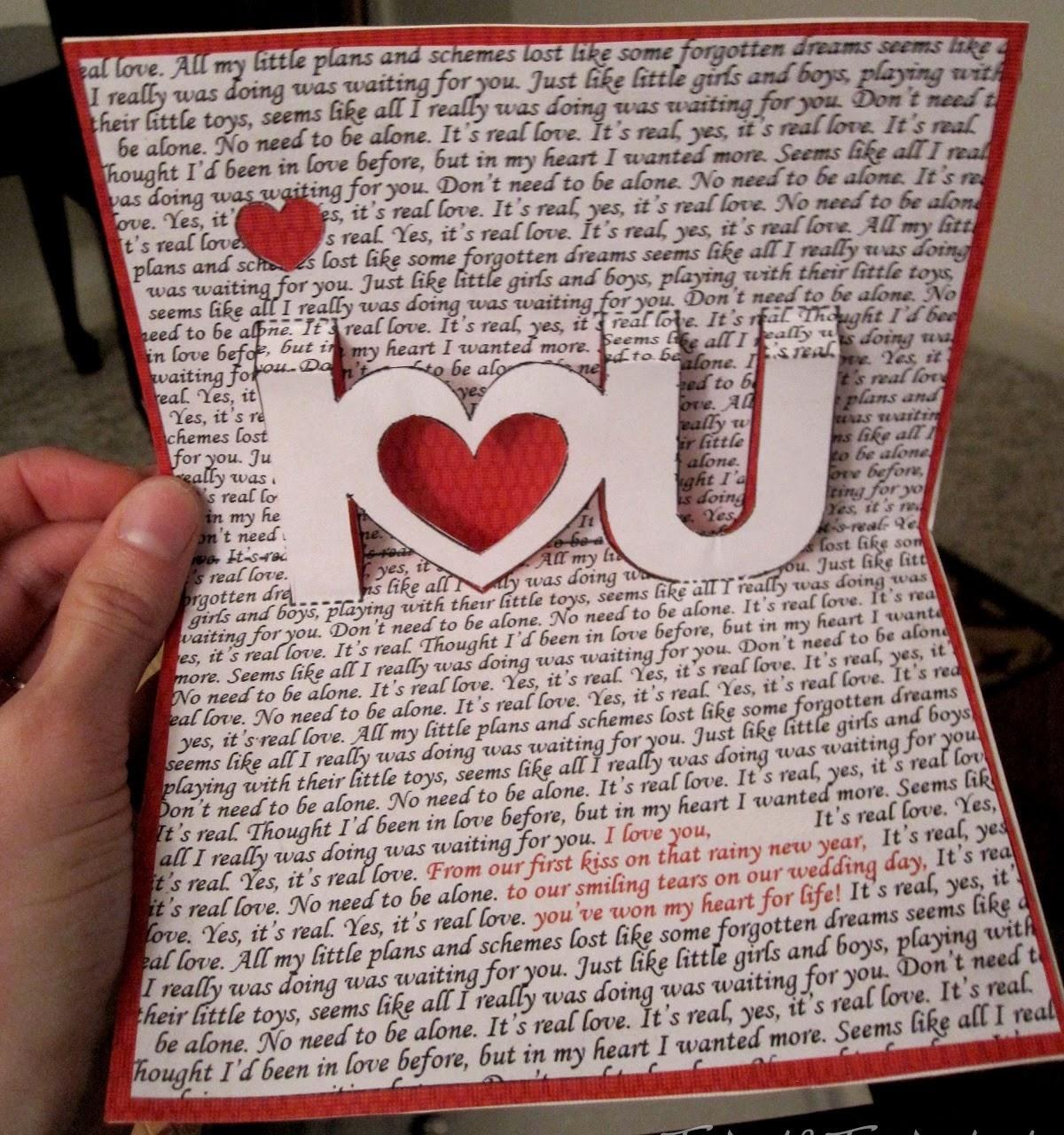Любовное послание своими руками