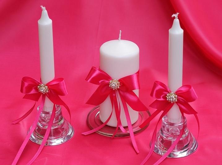 Как украсить свечи для свадьбы своими руками