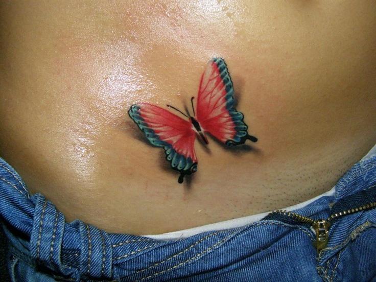 Тату бабочки