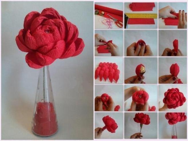 Цветы из конфет своими руками как делать и
