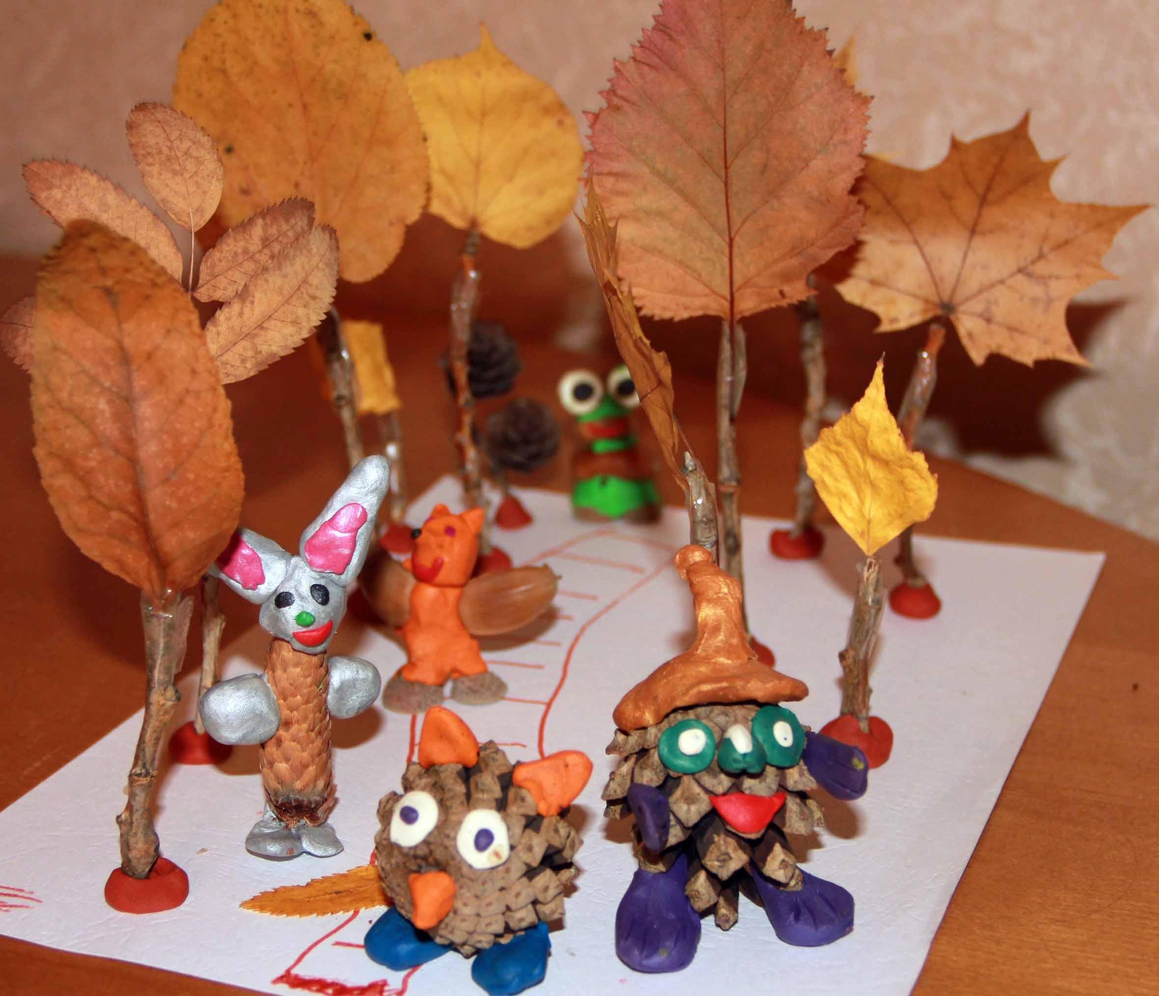 Поделки из природных материалов своими руками фото в детский сад