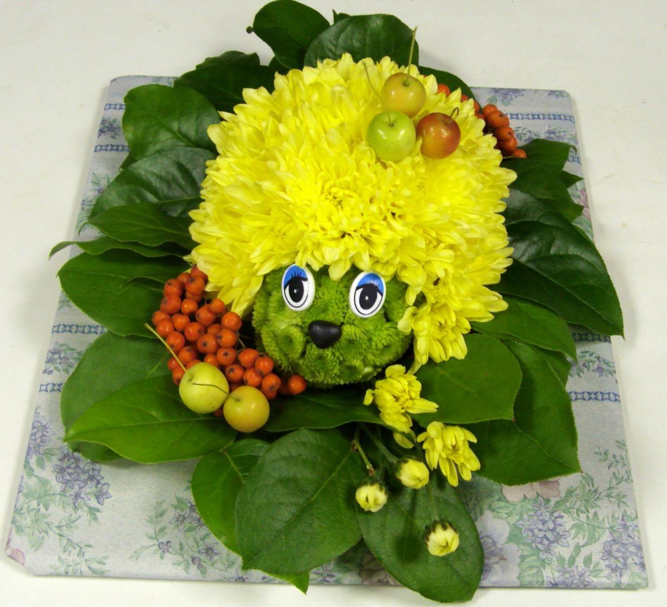 Поделки из цветов живых для школы
