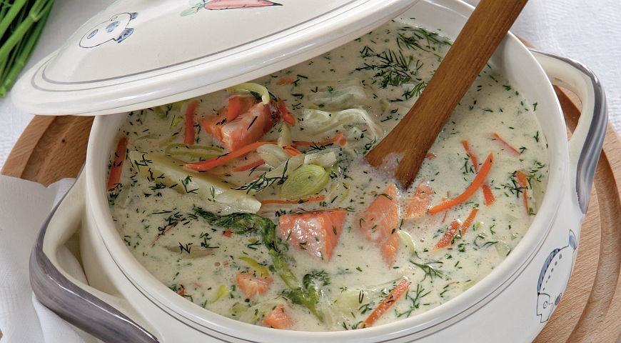 Рецепт рыбного супа с молоком