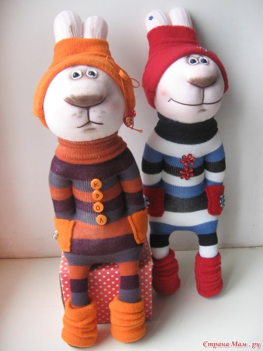 Игрушки из носков своими руками выкройки фото