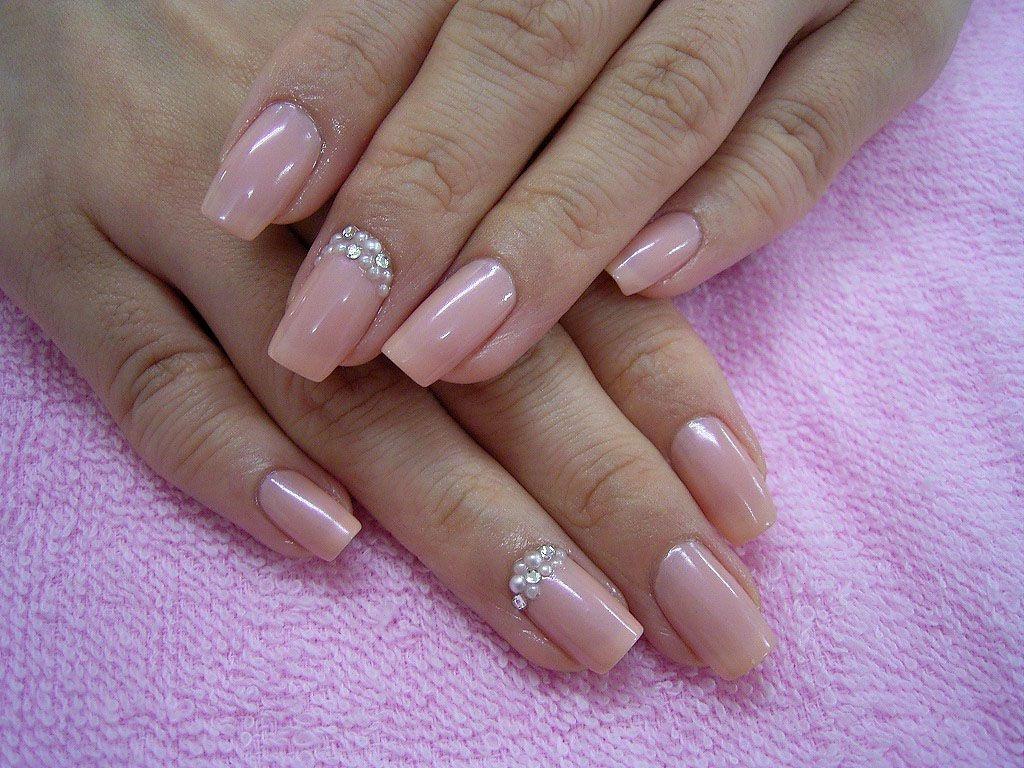 Маникюр на длинных квадратных ногтях