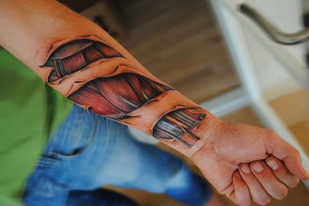 Реальные тату на руке
