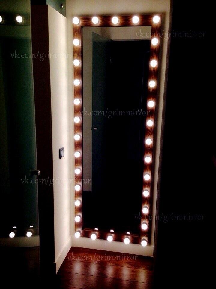 Зеркало с подсветкой для макияжа своими руками