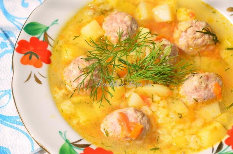 Суп с фрикадельками с рисом в мультиварке рецепт с пошагово