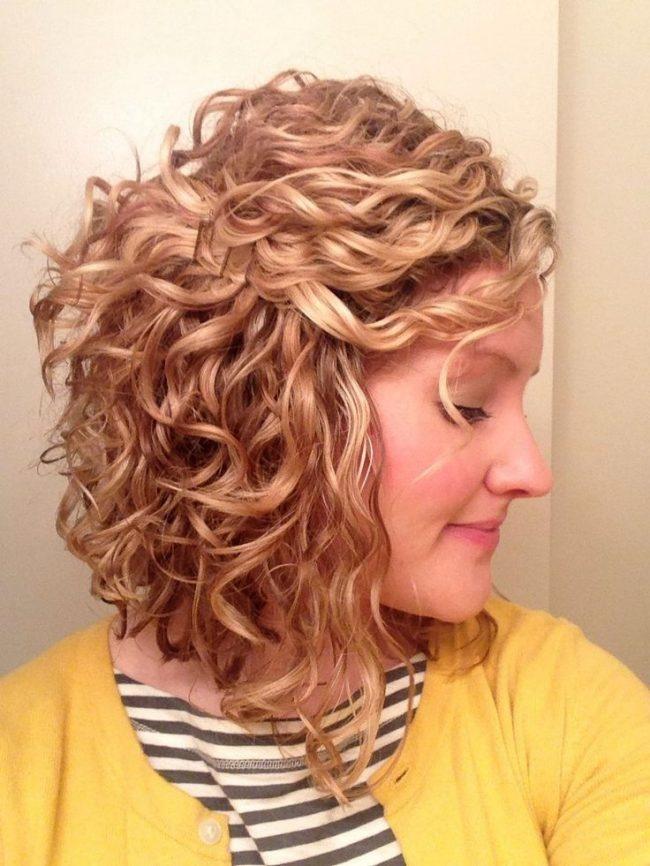 прически завивка на средние волосы фото
