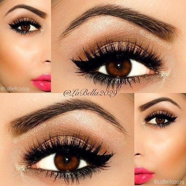 Красивый макияж для карих глаз в домашних условиях с фото пошагово