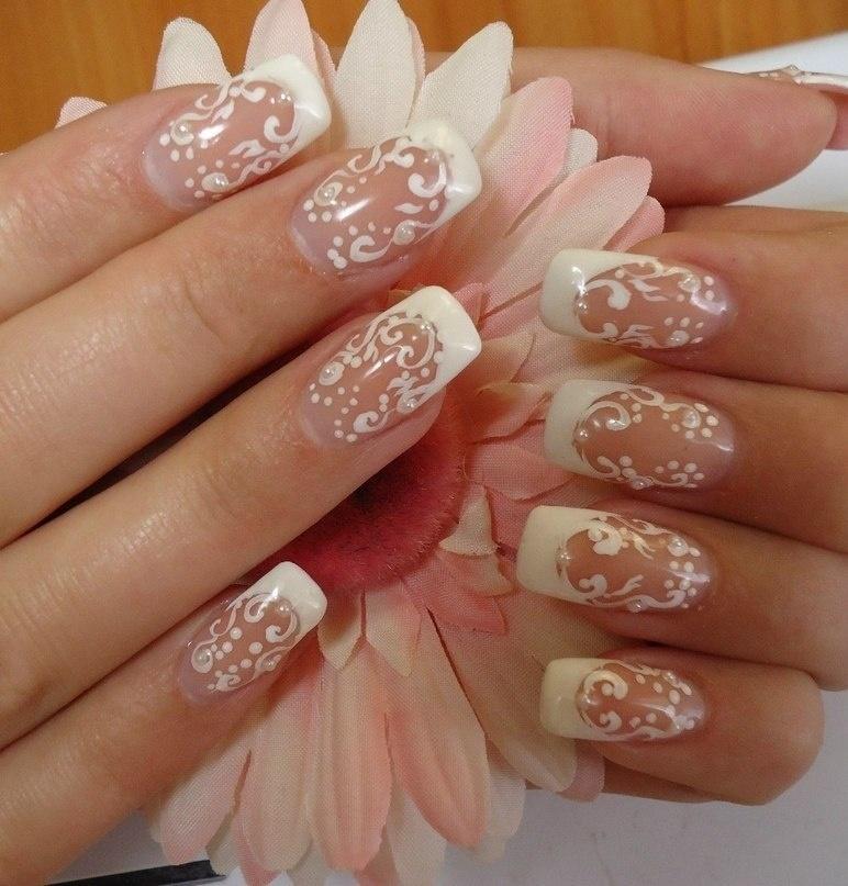 Свадебный маникюр на ногти