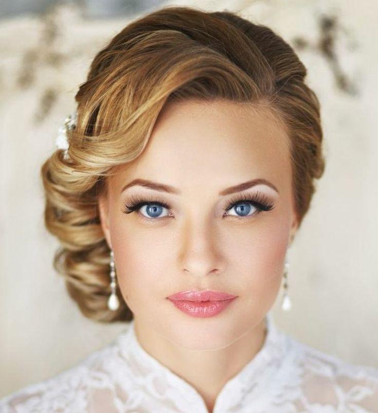 свадебные прически для круглого или квадратного лица