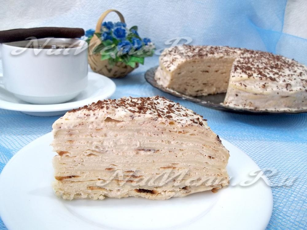 Блинный торт рецепт пошагово в домашних условиях с творогом