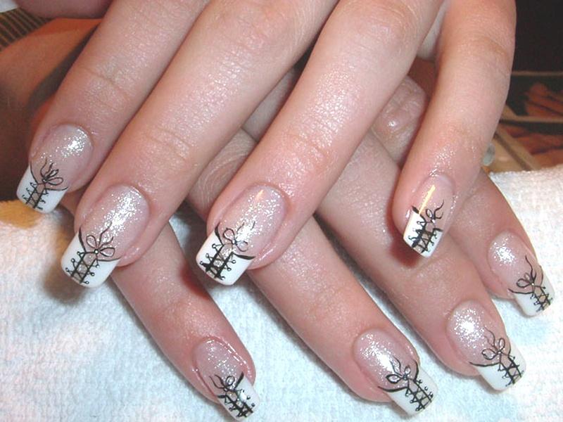 Наращивание ногтей не френч