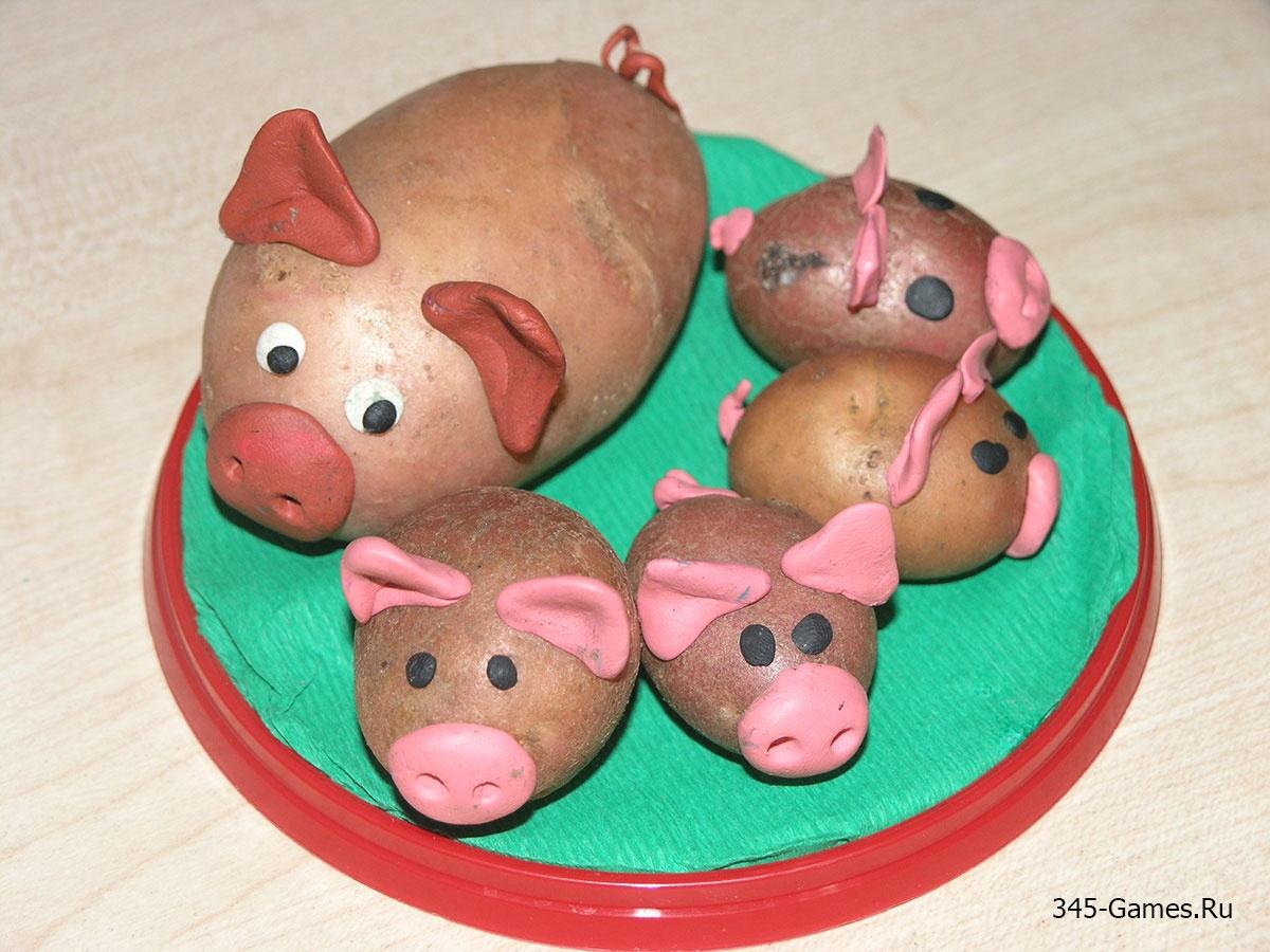 Оригинальные поделки из картофеля своими руками фото