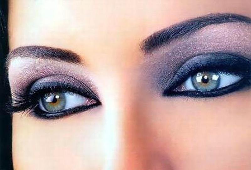 Макияж для голубых глаз в коричневых тонах