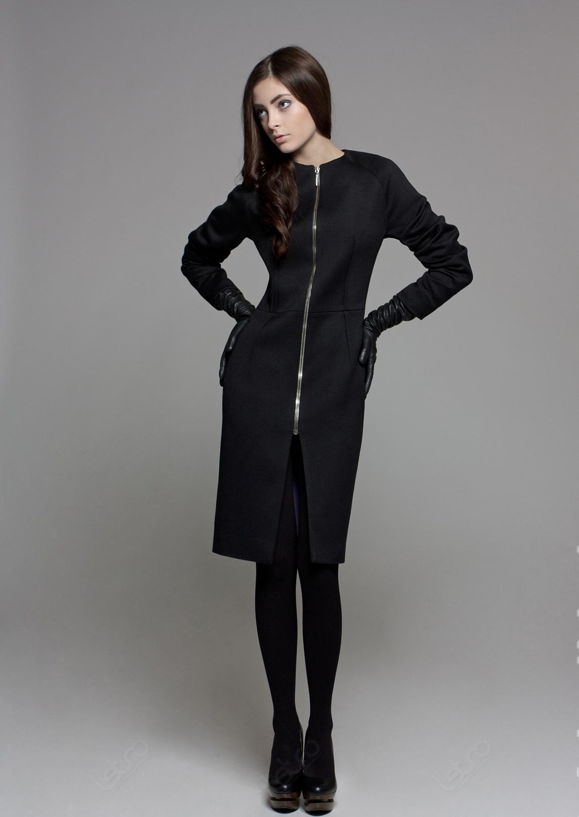 Фото пальто женское на молнии
