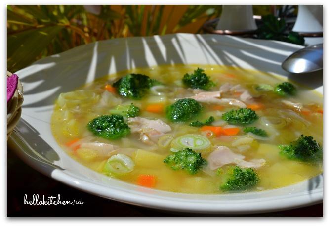 Суп с брокколи с курицей рецепт пошагово
