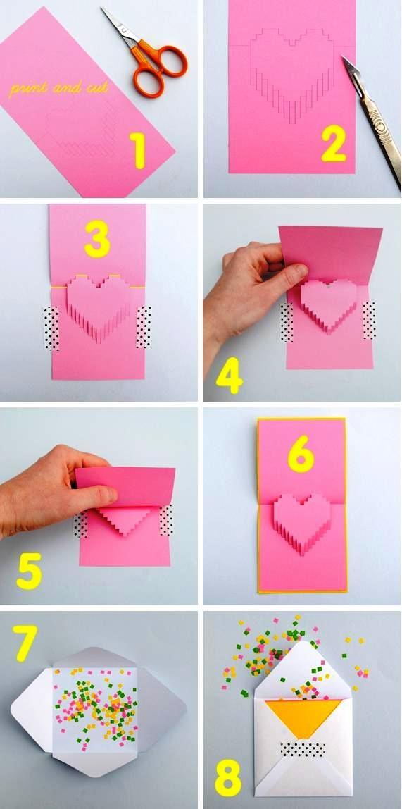 Открытка для мамы на день рождения своими руками из бумаги и картона