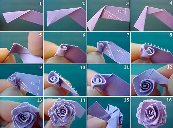 Розы поделки из бумаги