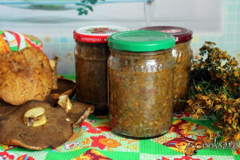 Рецепт приготовления грибной икры зиму