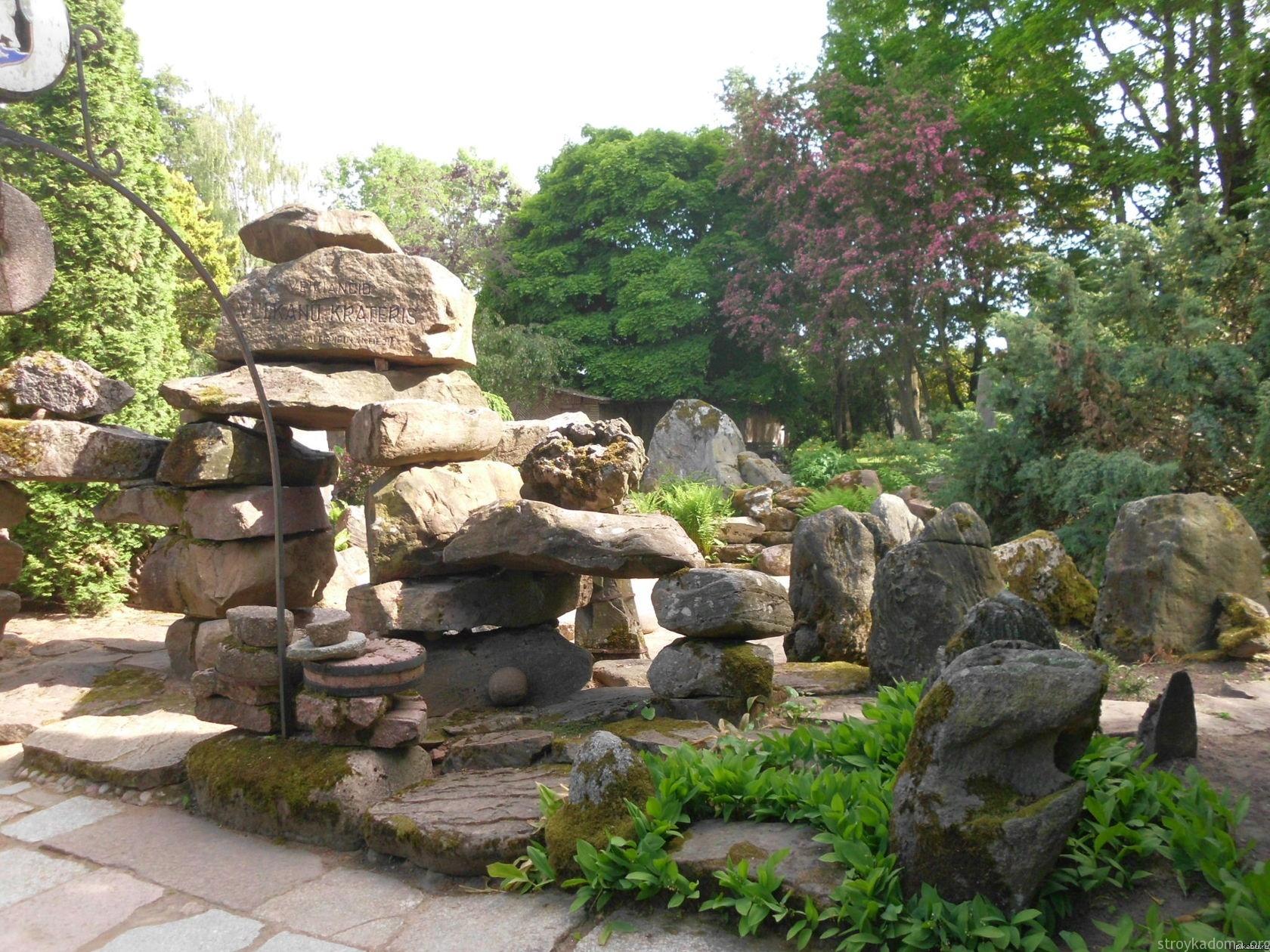 Сад камней на даче фото