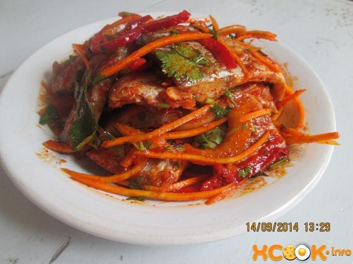 Рецепт хе из рыбы по корейски с пошагово в