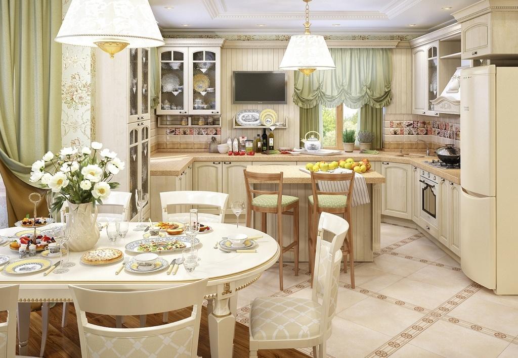 Фото красивых интерьеров кухни в стиле