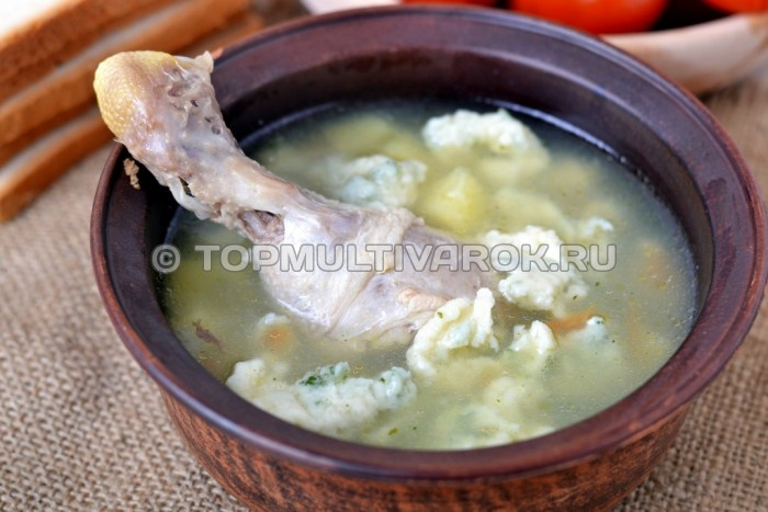 Суп с галушками в мультиварке рецепт с фото пошагово