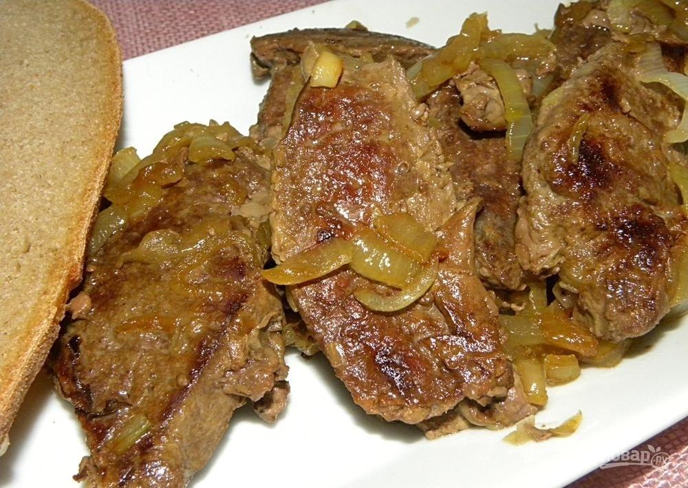 Жареная говяжья печень в мультиварке рецепты с фото