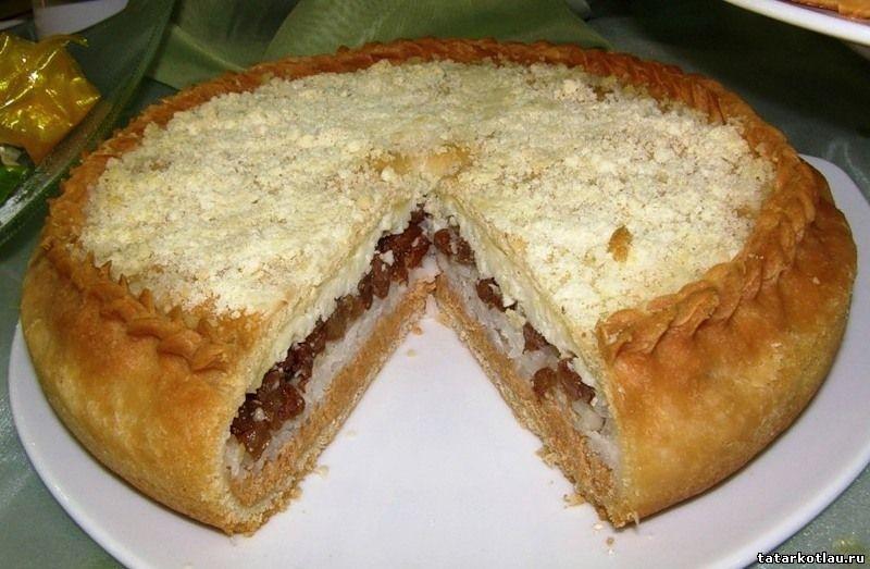Рецепт пирог с рисом и изюмом татарский