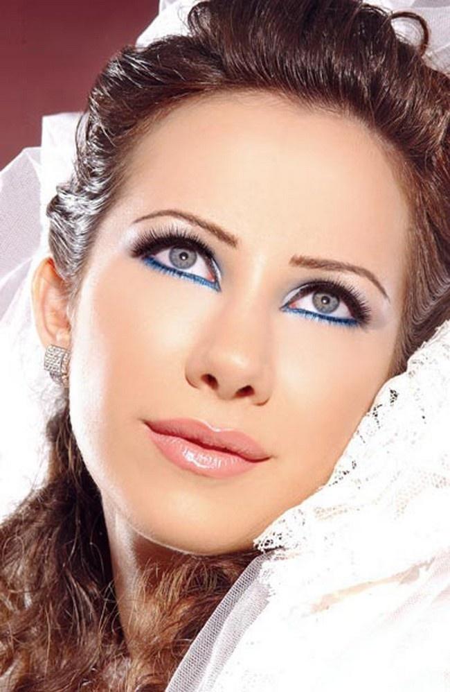 Макияж для серо голубых для свадьбы