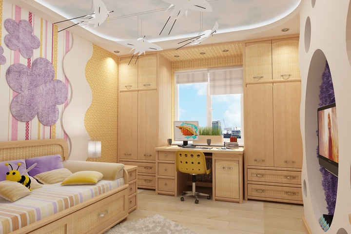 Интерьер трехкомнатной квартиры 80 кв.м. фото