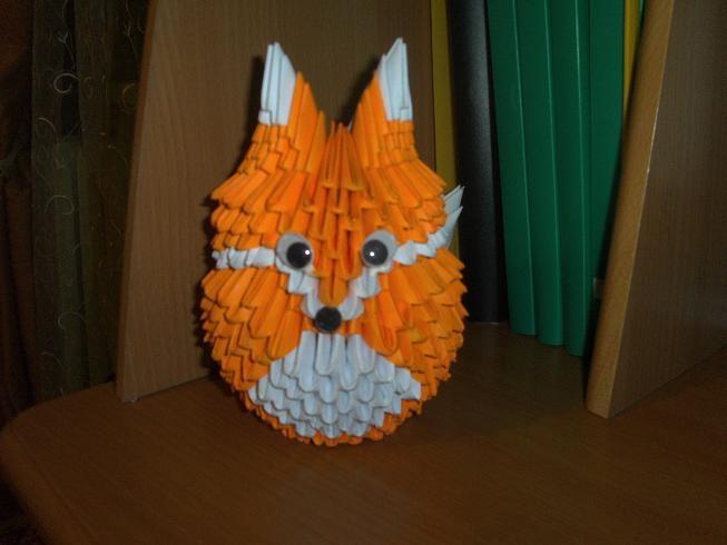 Поделка из бумаги оригами в школу