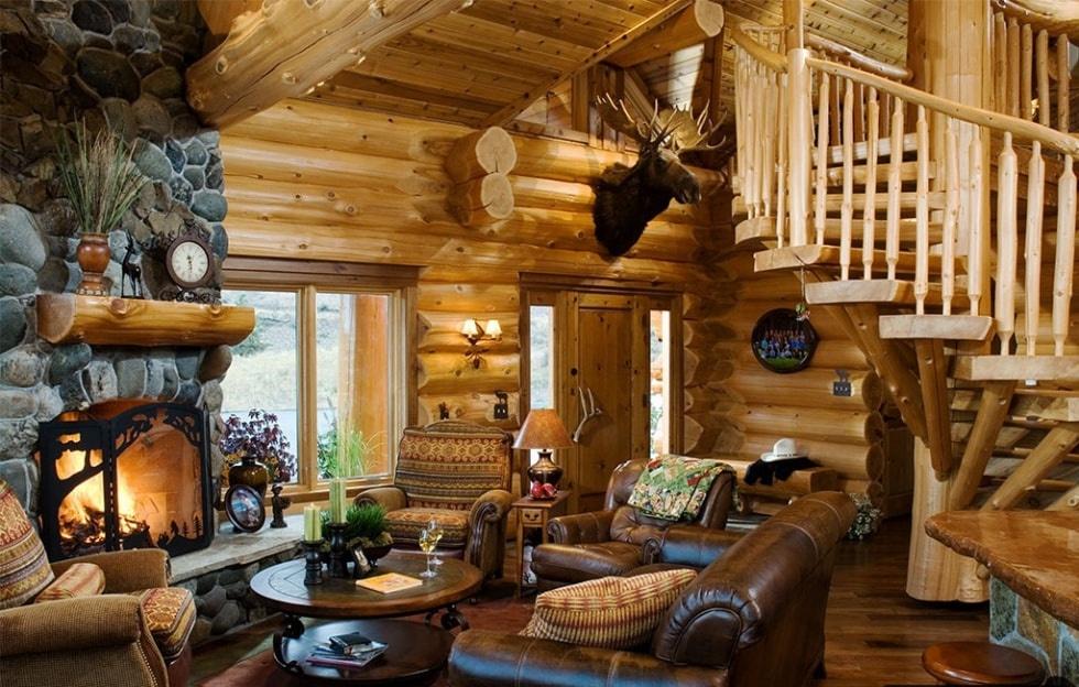 Дома из сруба дизайн