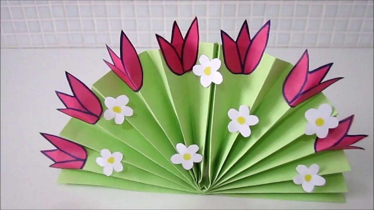 Быстрые и красивые поделки из бумаги