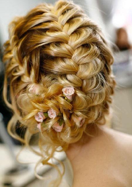прически невесты плетение косичек фото 2012