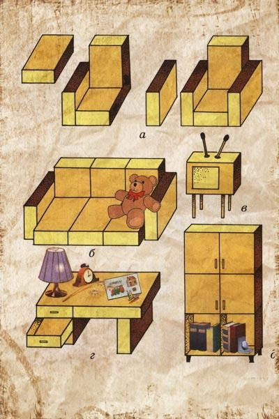 Своими руками поделки мебель
