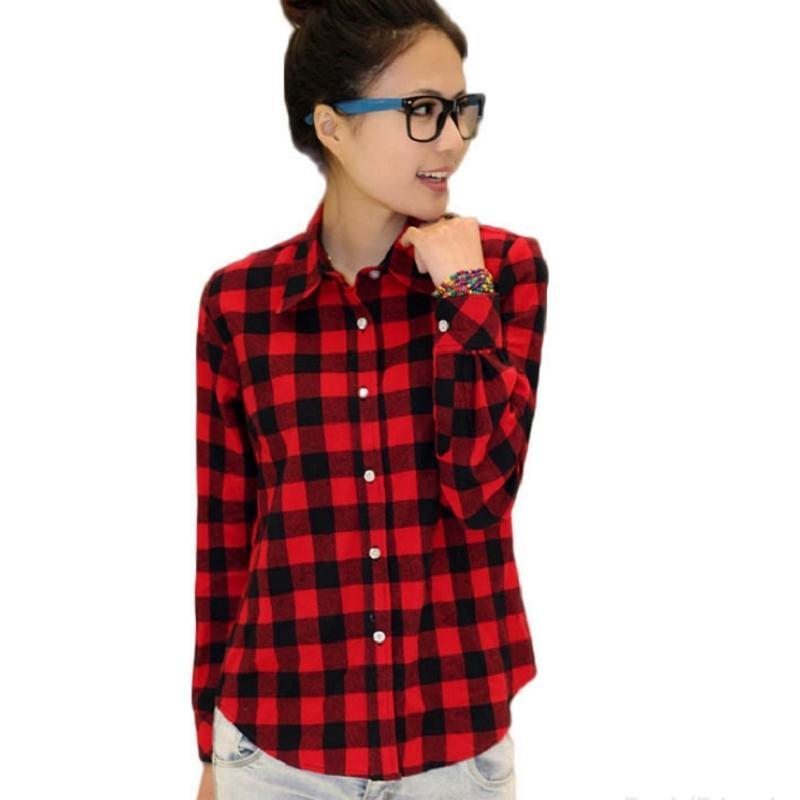 Рубашки женские в клетку цены