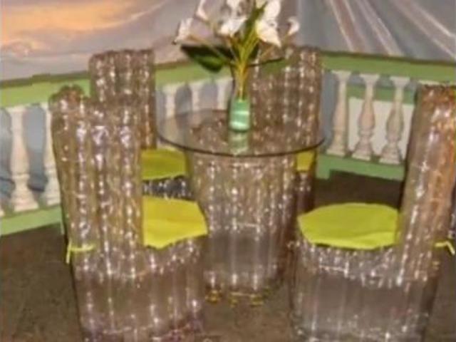 Кресло своими руками из пластиковых бутылок