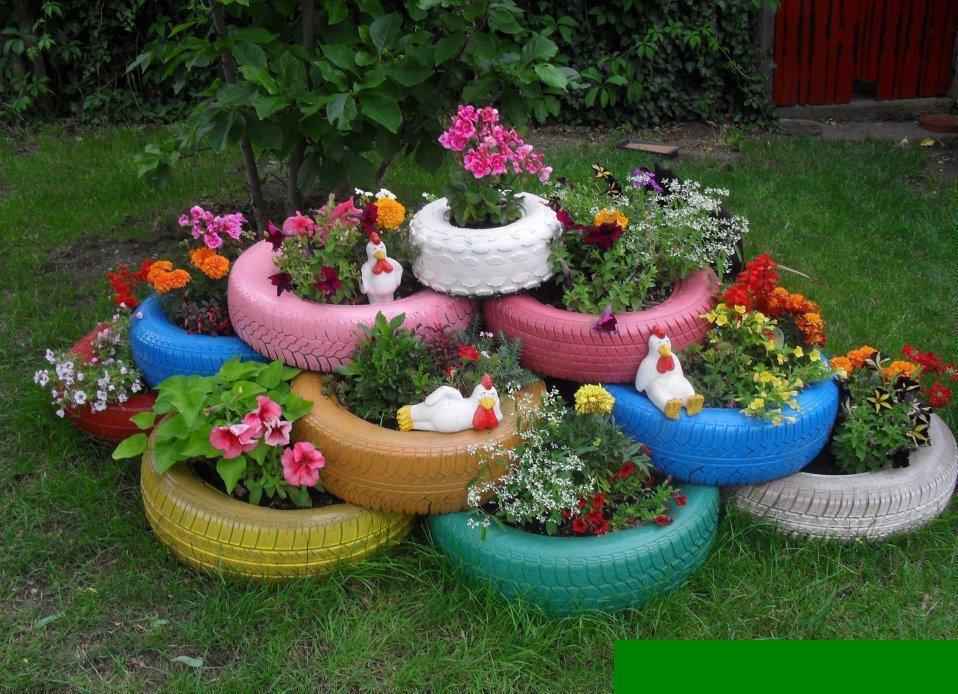 Клумбы для сада своими руками с фото