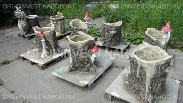 Изготовление садовых фигур своими руками бетона