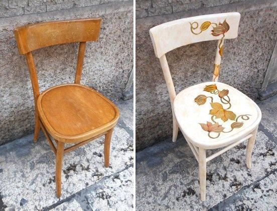 Чем украсить стул своими руками