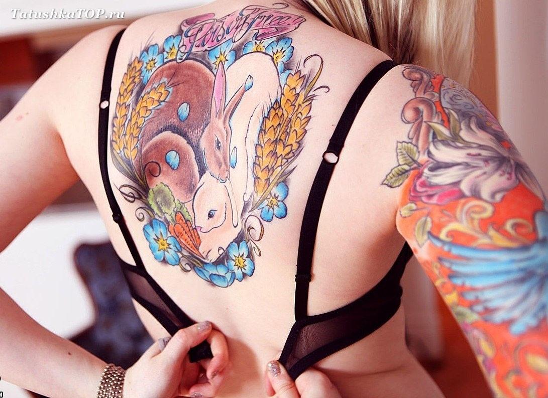 Цветное тату для девушек