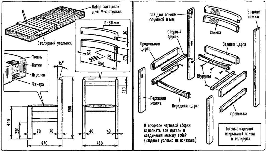 Столярные изделия из дерева чертежи