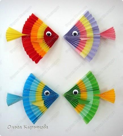 Поделки рыбок из бумаги своими руками