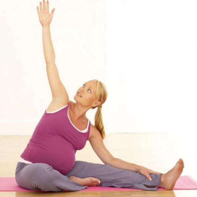 Упражнения для беременных 3 триместр с