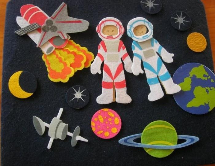 Космонавты из бумаги своими руками