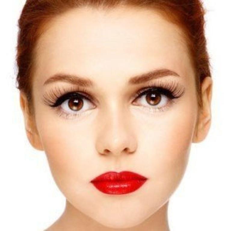 Круглых лиц макияж с